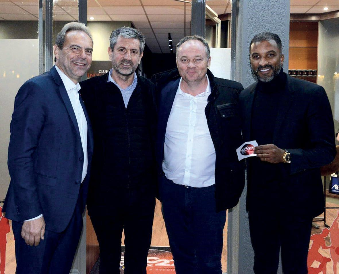 Habib Beye inaugure la boutique de l'Évreux Football Club 27