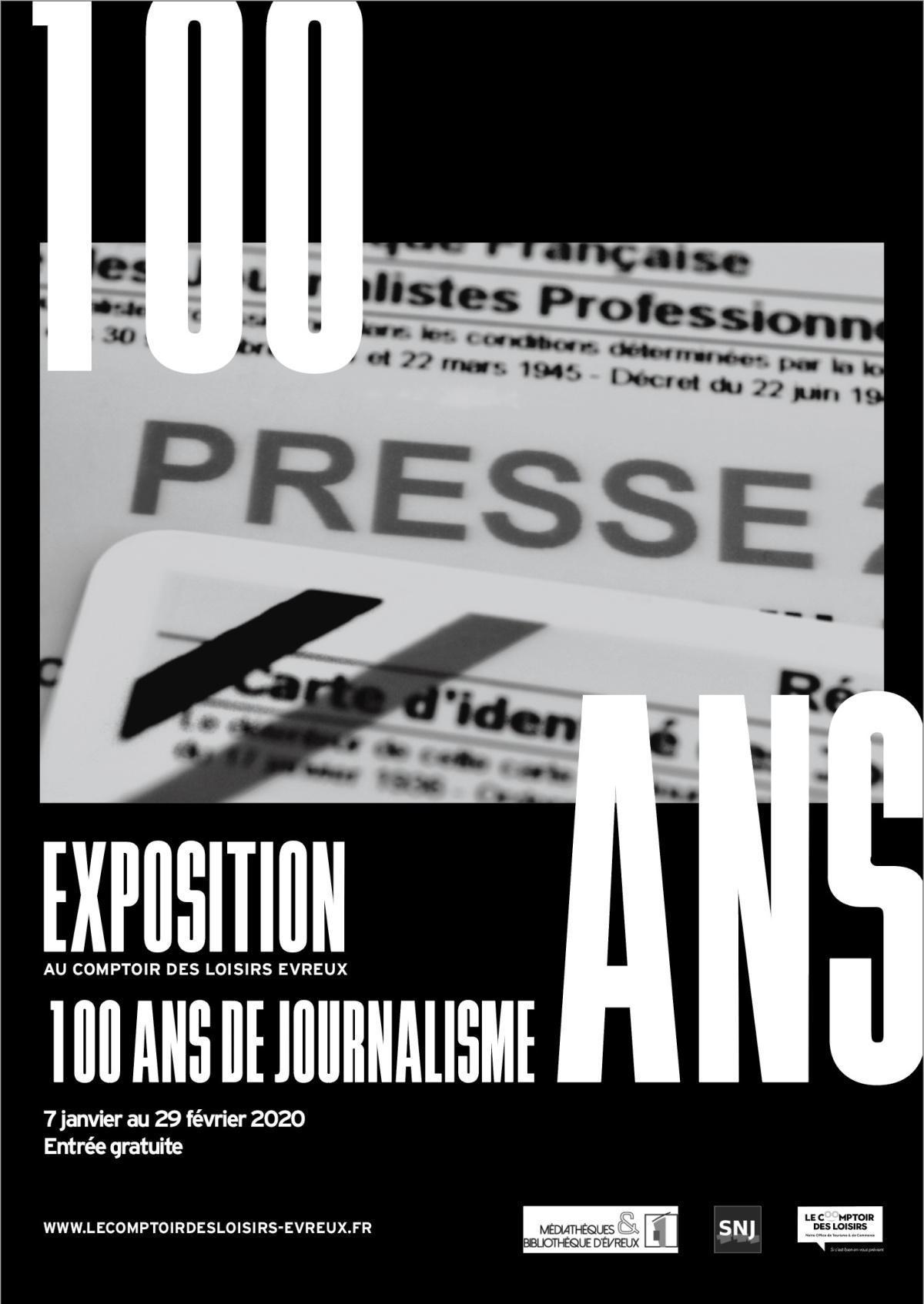 EXPOSITION 100 ANS DE JOURNALISME