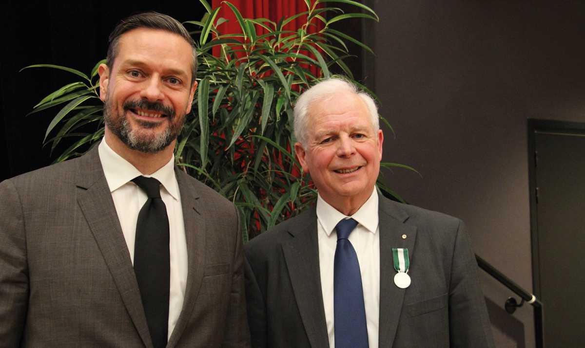 Alain Fillon reçoit la médaille d'honneur