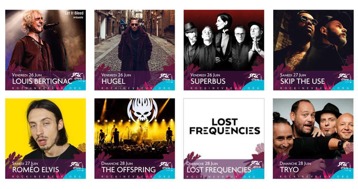 Le Festival Rock in Évreux revient avec une belle programmation !