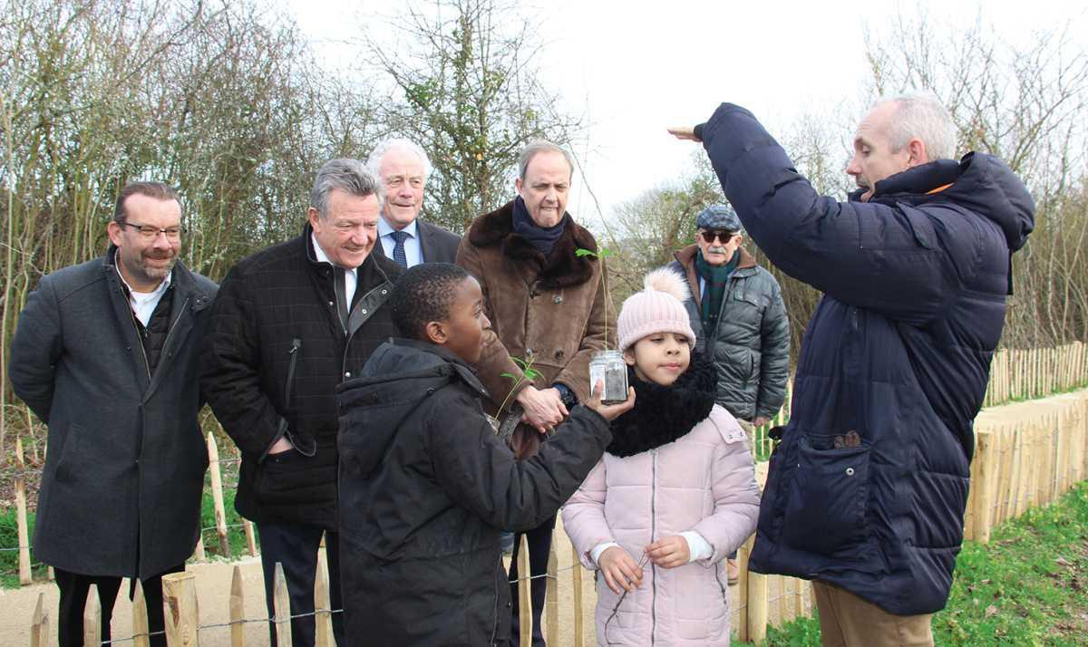 Les écoliers de Saint-Exupéry plantent des chênes