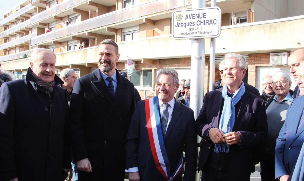 Jean-Louis Debré inaugure l'avenue Jacques Chirac