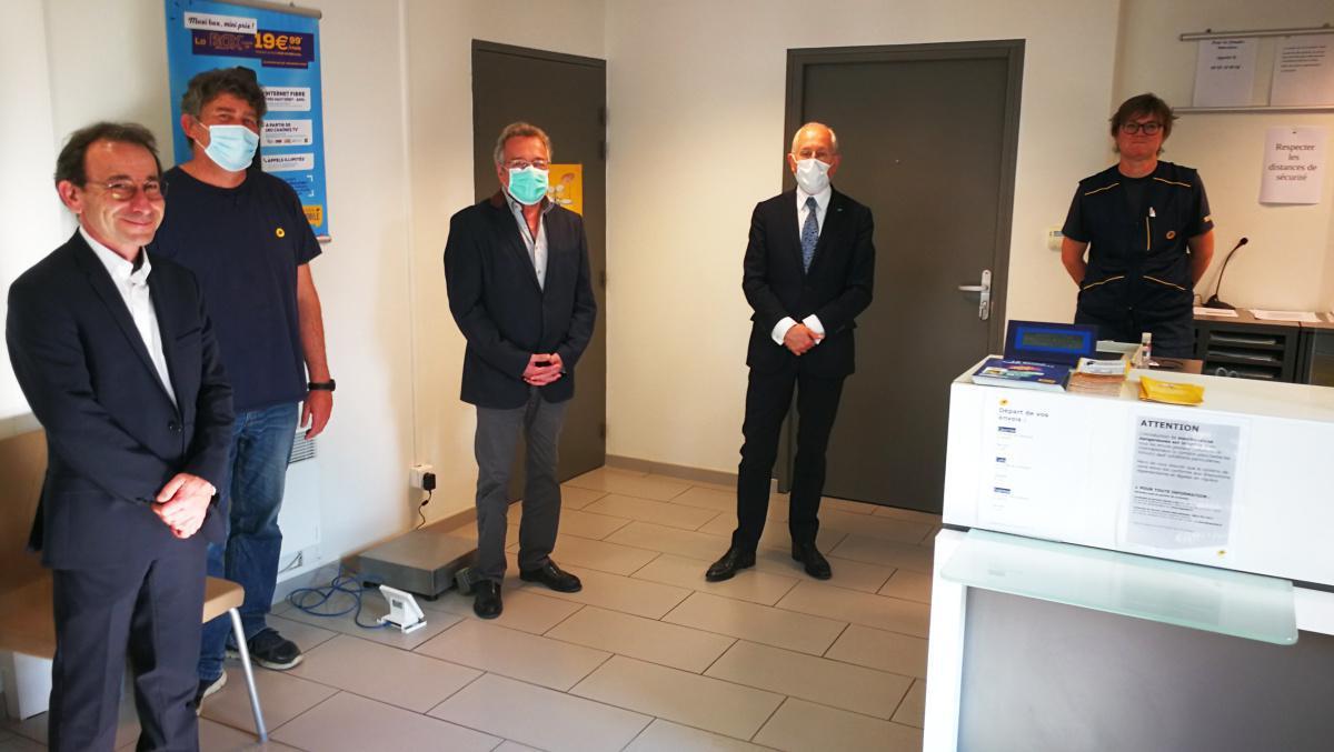 Philippe Wahl, PDG de La Poste, était en visite dans le Drouais