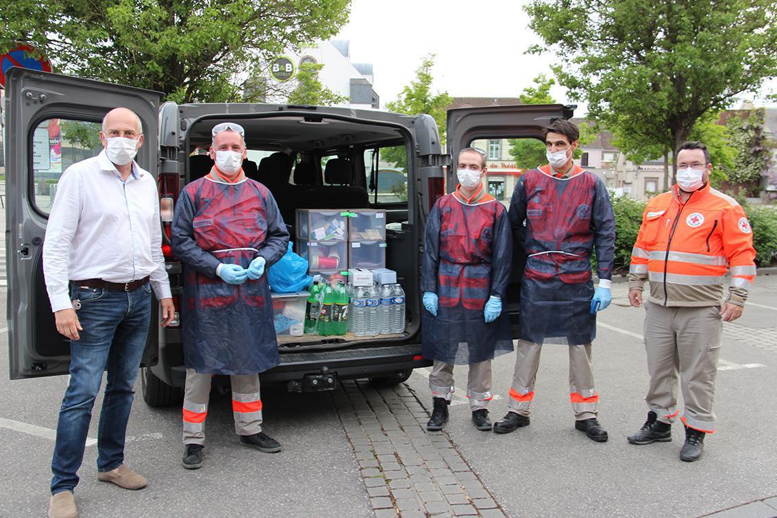 À Dreux, la Croix-Rouge maraude avec le GIP-Relais logement