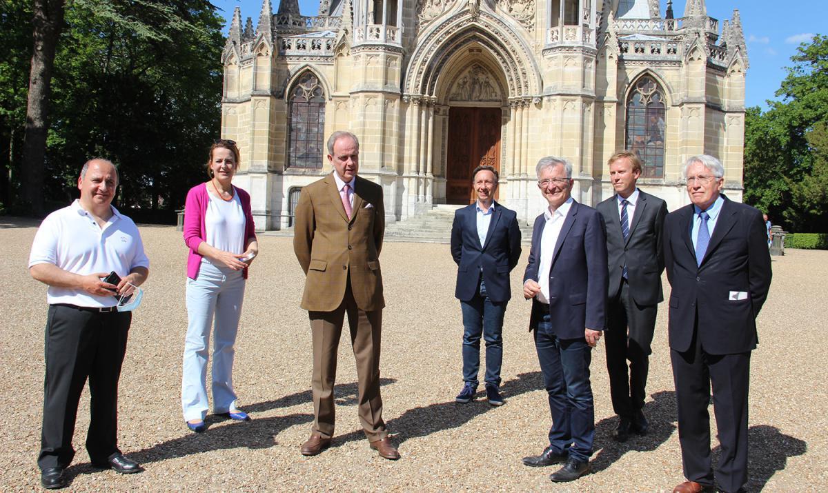 François Bonneau visite la Chapelle Royale et le Château d'Anet