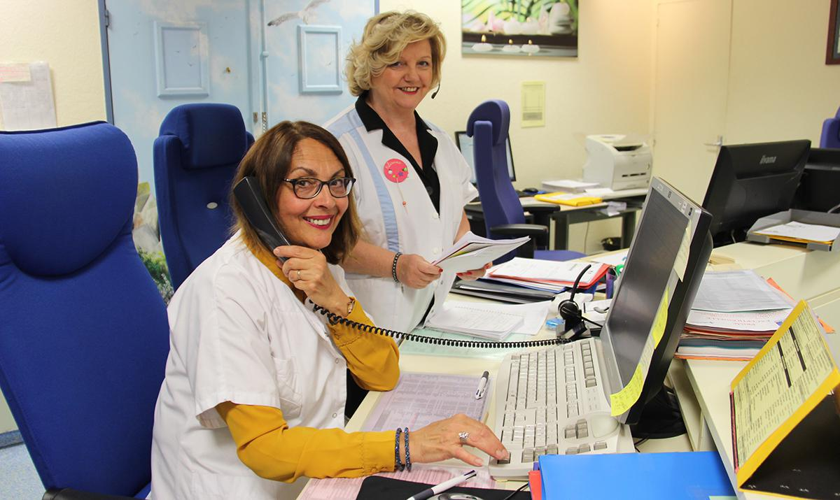 Deux standardistes de l'hôpital partent en retraite
