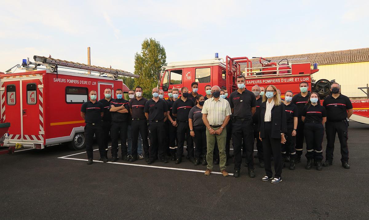 Changement de caserne pour les pompiers d'Anet