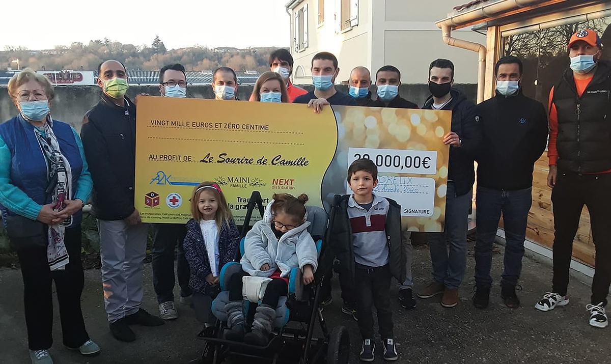 Un chèque de 20.000 € pour le Sourire de Camille