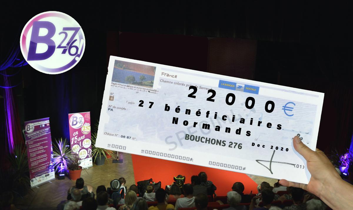 Bouchons 276 a distribué 22 000 € à 27 bénéficiaires Normands