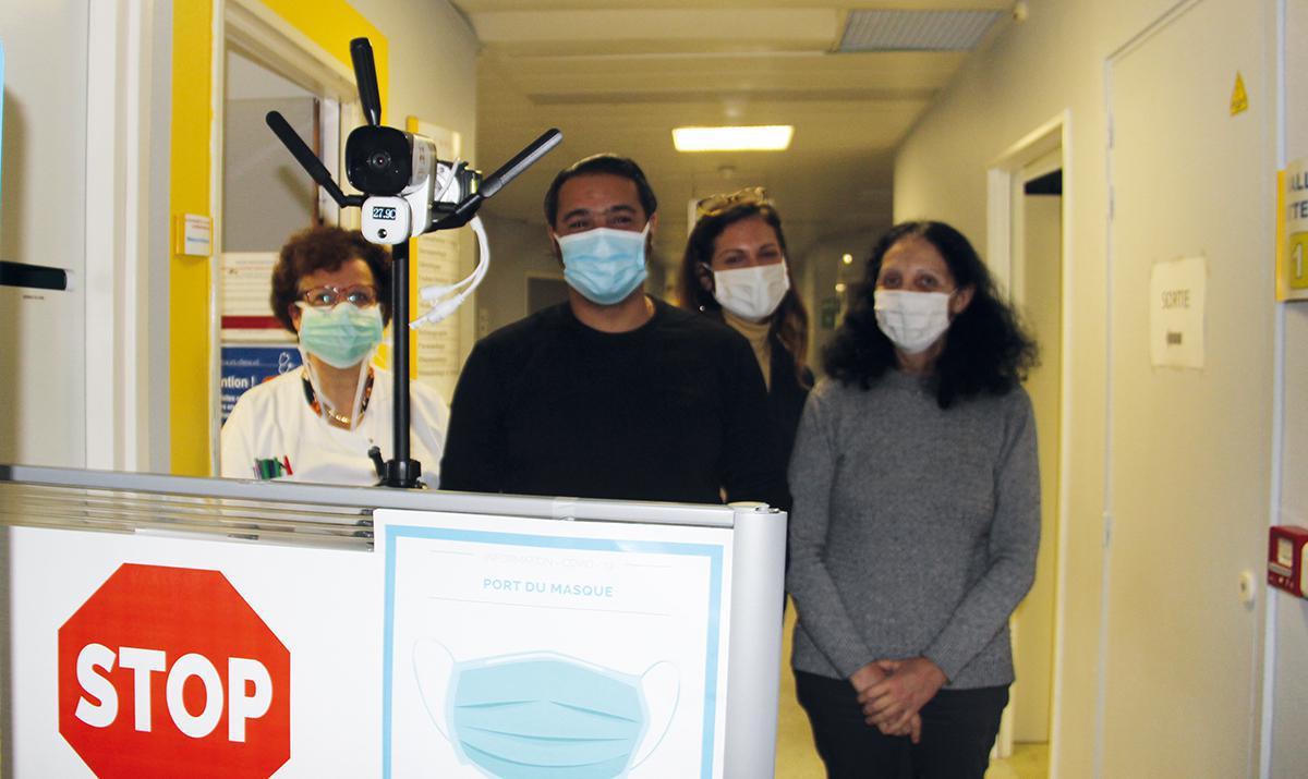 Une caméra thermique à l'entrée des consultations de l'hôpital de Dreux