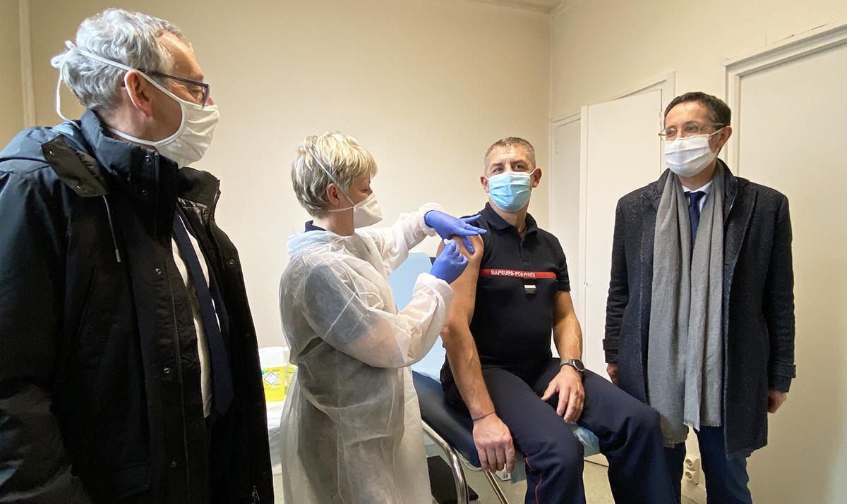 Vaccination Covid-19, les pompiers de l'Eure répondent présents