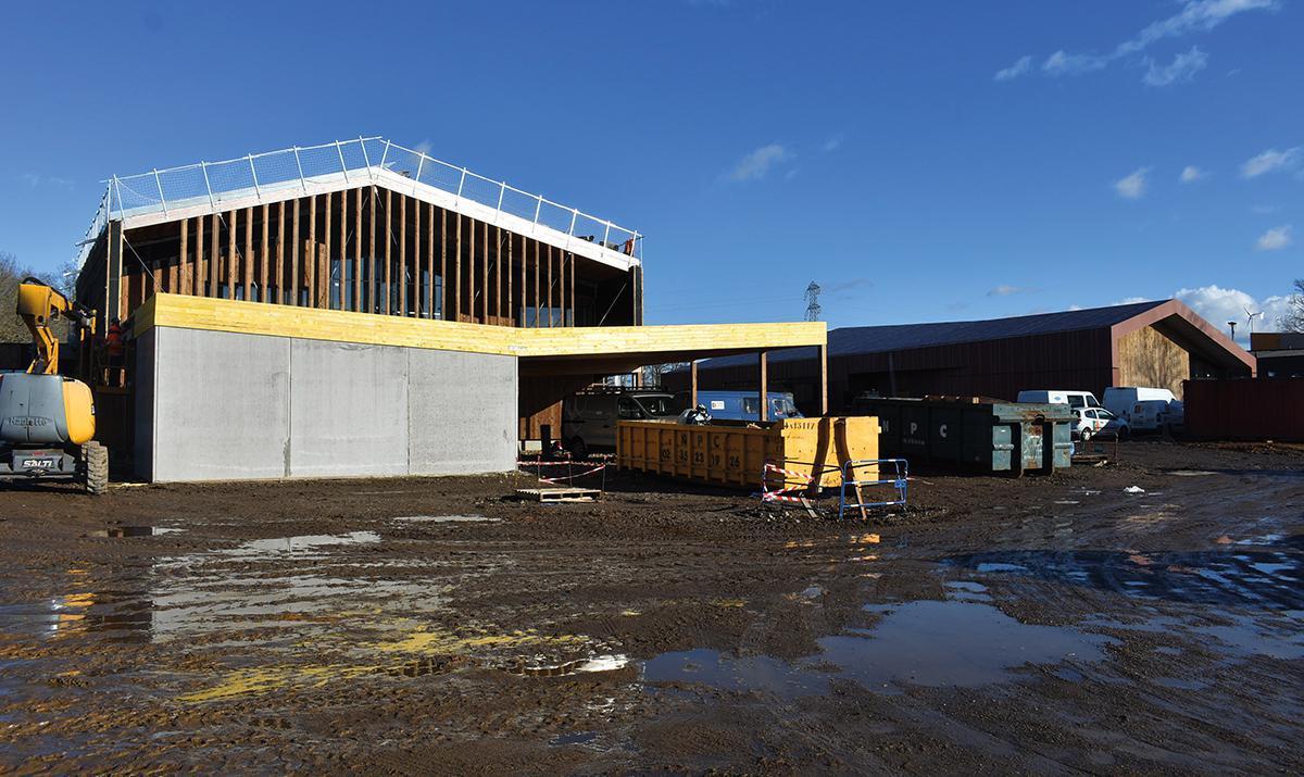 Le chantier de l'école de Nétreville avance bon train
