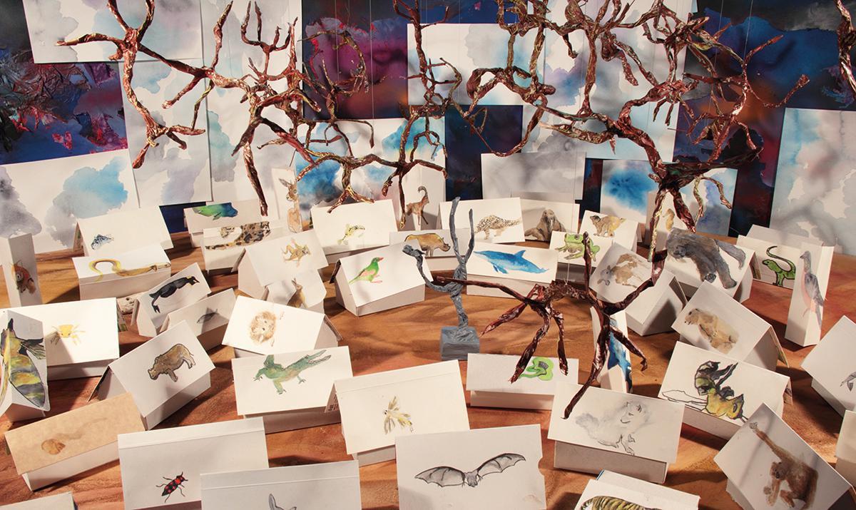 Traces, une exposition d'art contemporain