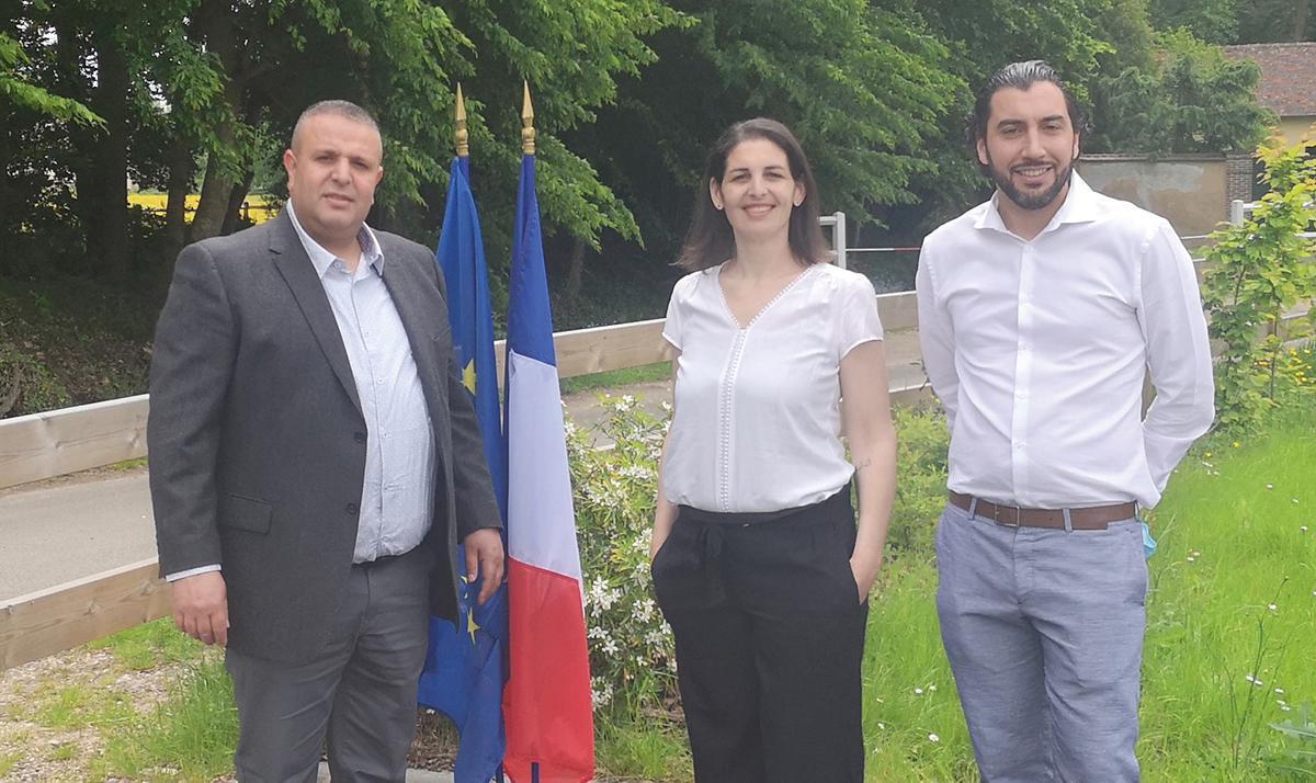 Jeber Trad et Aurélie Michel sur le canton de Dreux 1