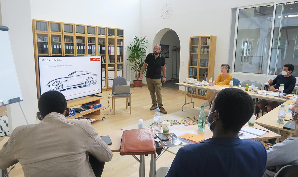 Formation de Design automobile dans l'ancienne papeterie Firmin Didot