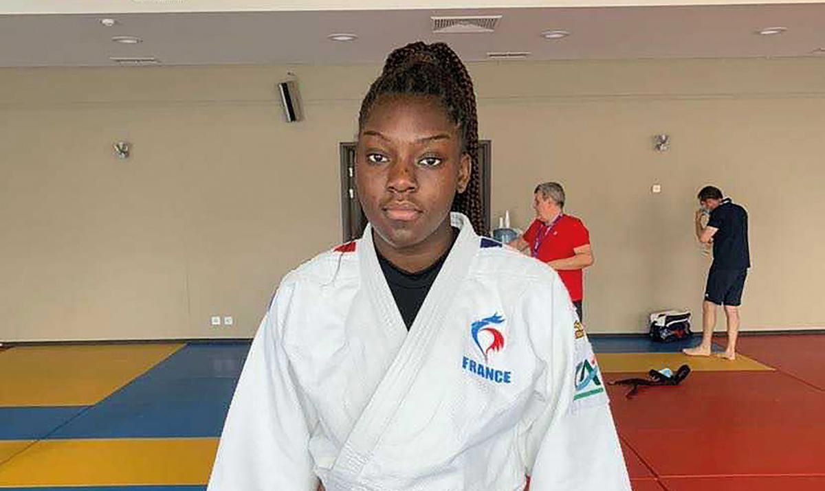 Quessia Diankolela aux championnats d'Europe