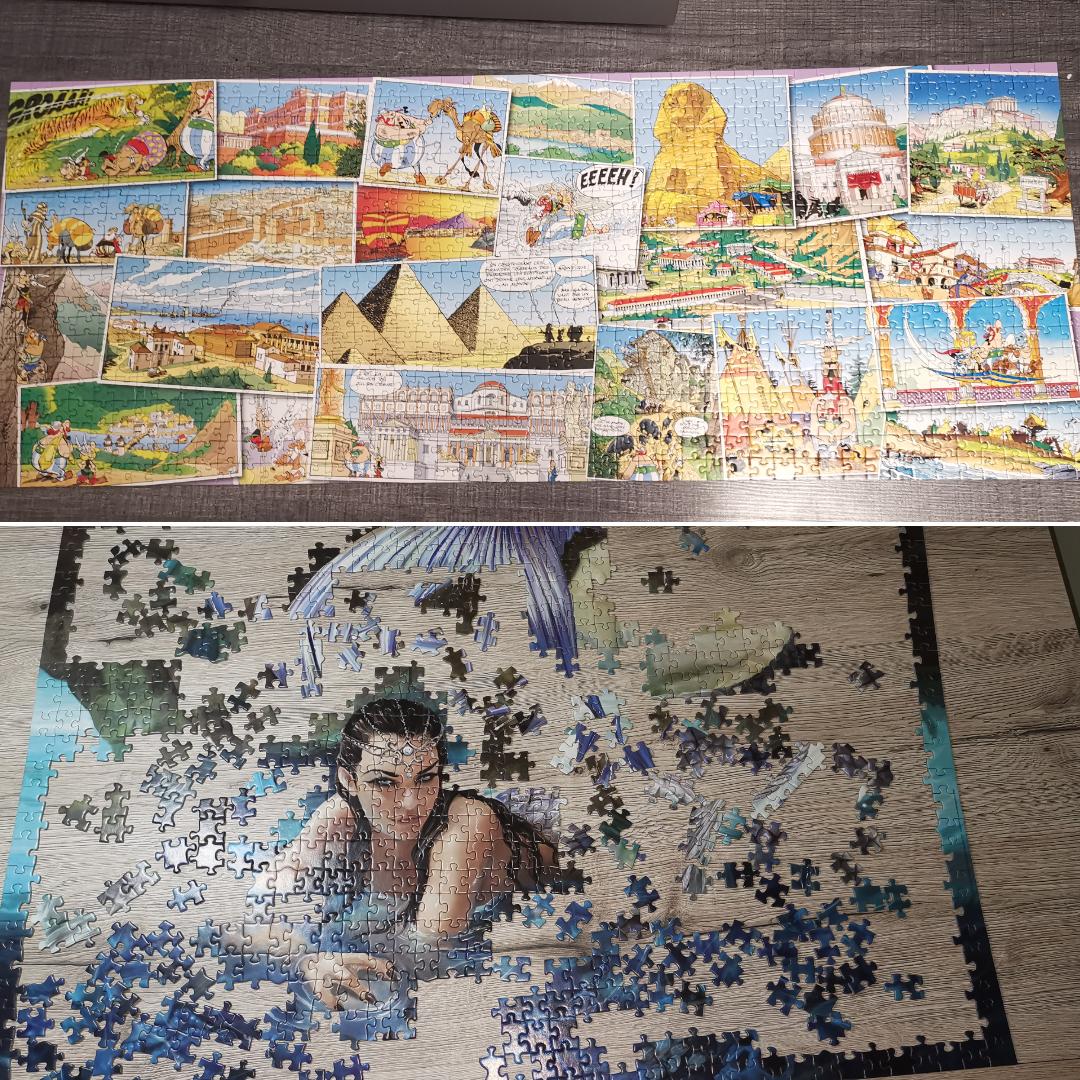 Puzzle 1000 pièces, Tom a fini le sien, moi...
