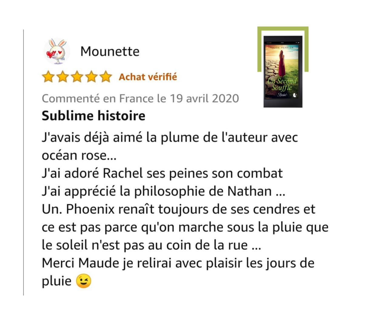 1er avis sur Un Second Souffle - merci Mounette 💖