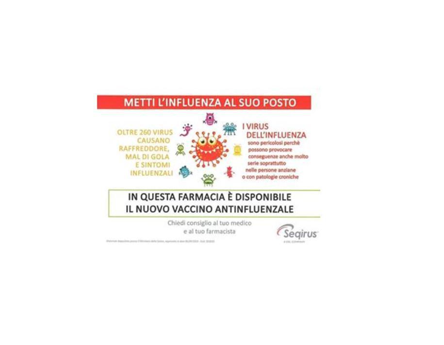 E' arrivato il vaccino antinfluenzale!