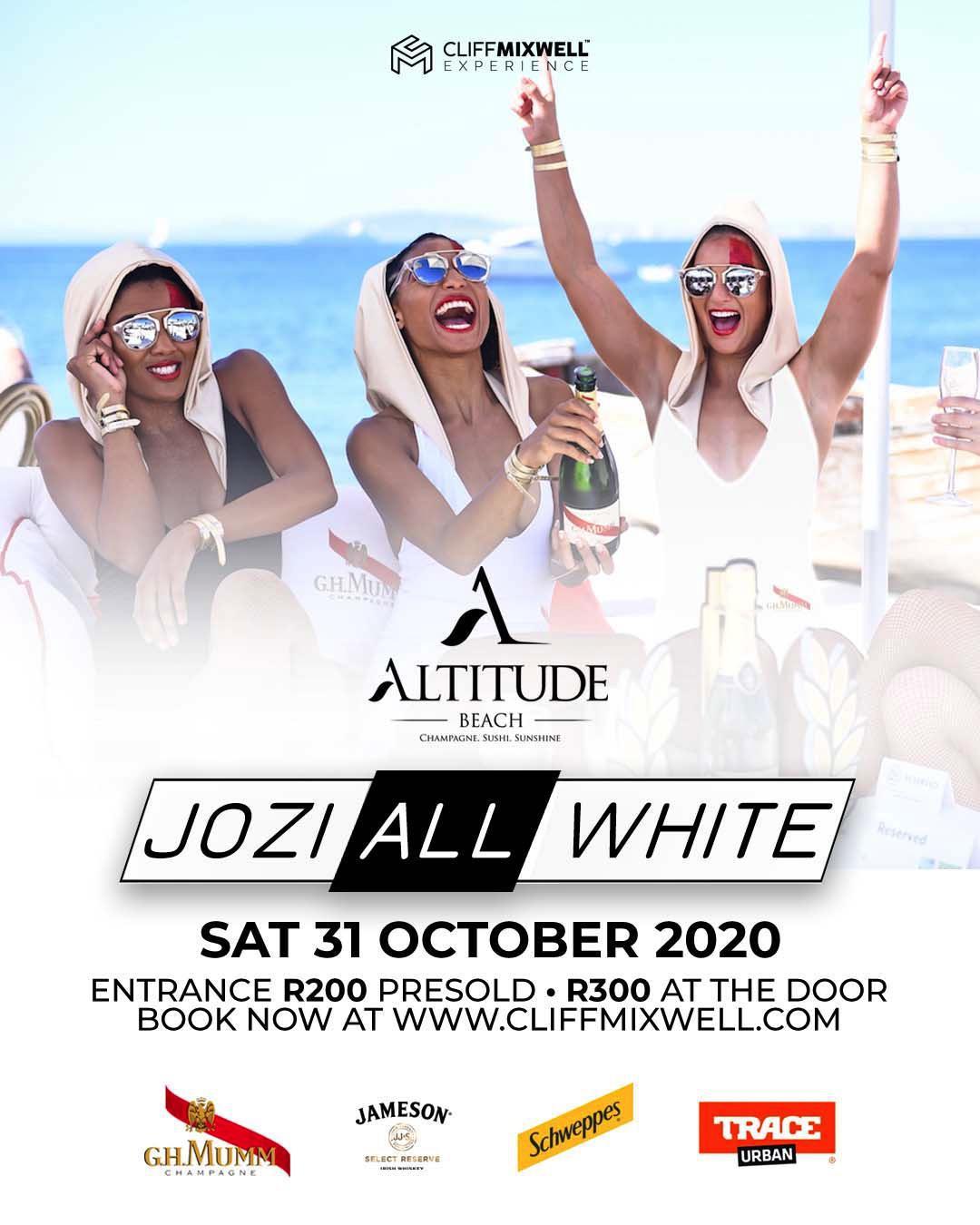 Win 2 VIP Tickets to Jozi All White at Altitude