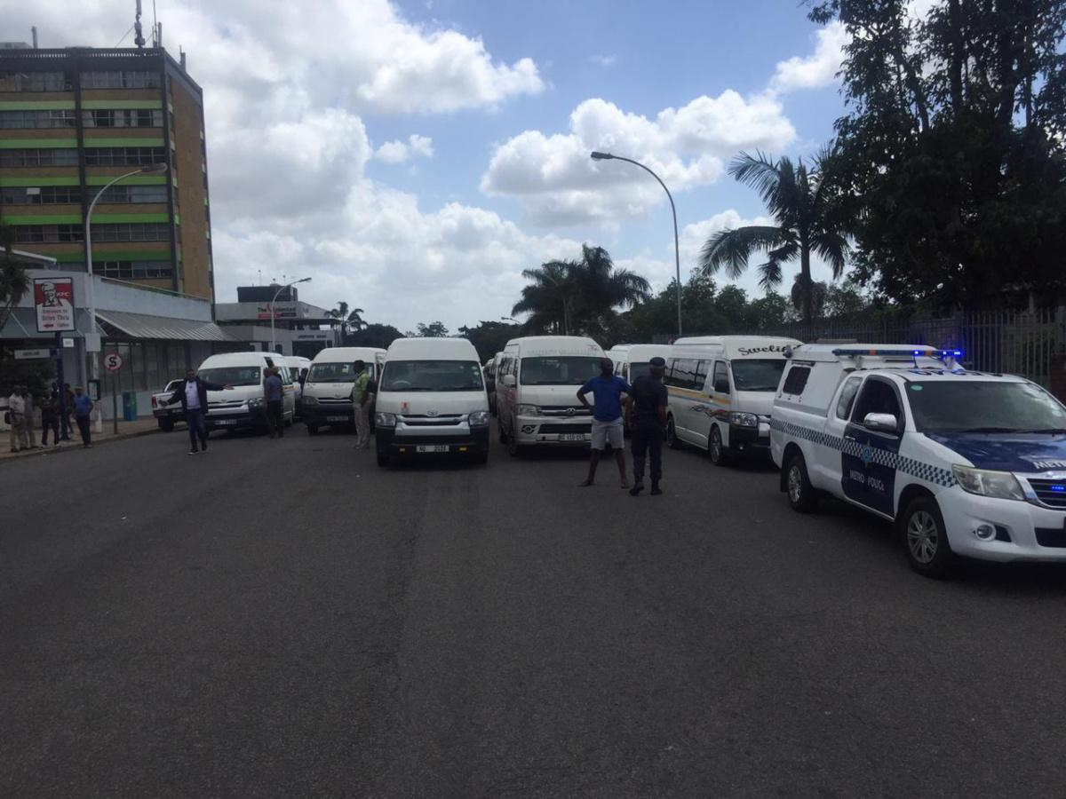 Kzn MEC Bheki Ntuli TRANSPORT and the city of ethekwini officials HELD HOSTAGE AT PINETOWN CIVIC CENTRE BY SANTACO DURBAN WEST REGION