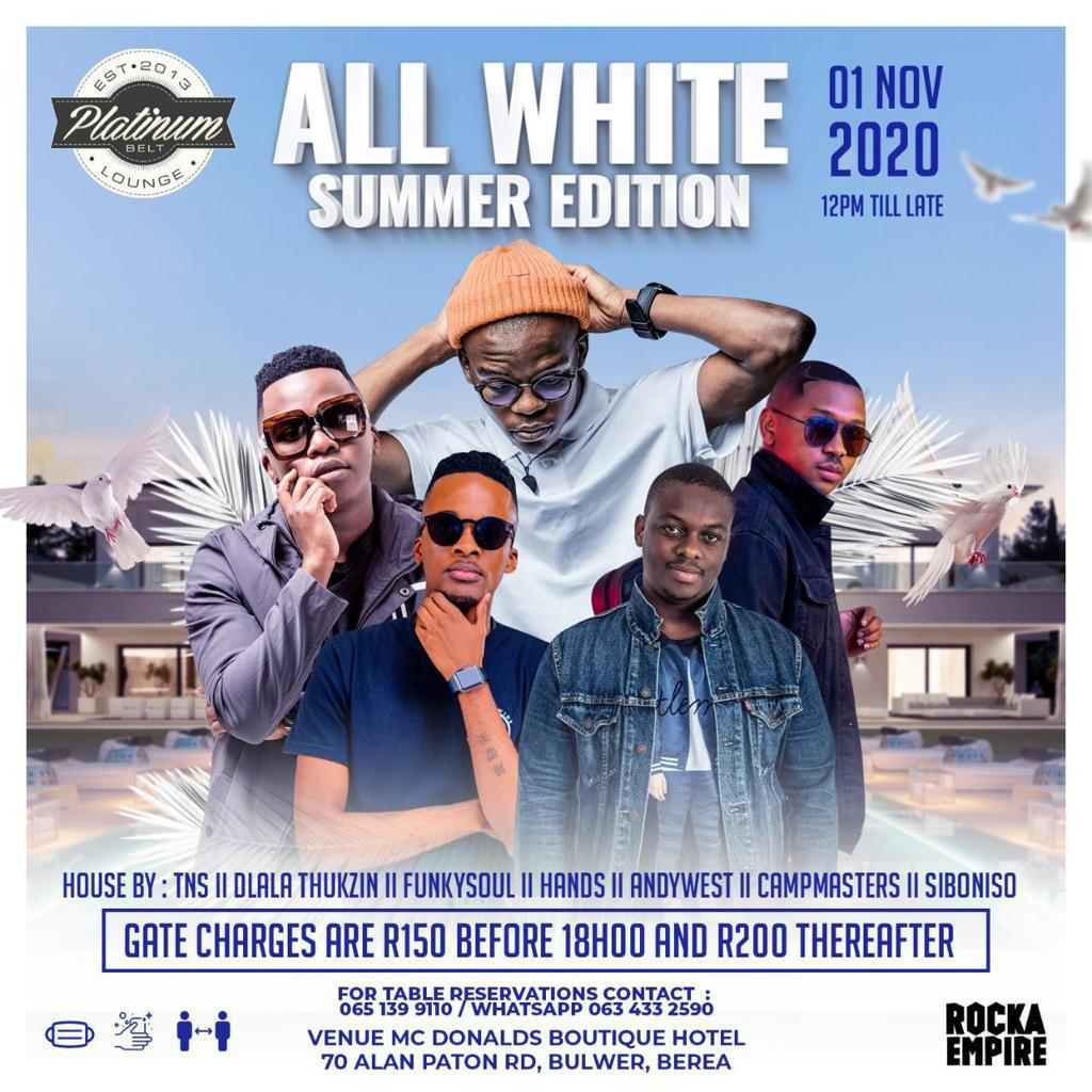 Black Motion headline this year's All White Summer Edition