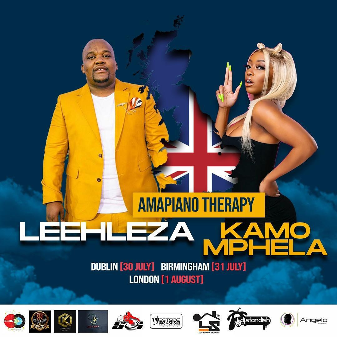 Kamo Mphela & Leehleza To Tour United Kingdom