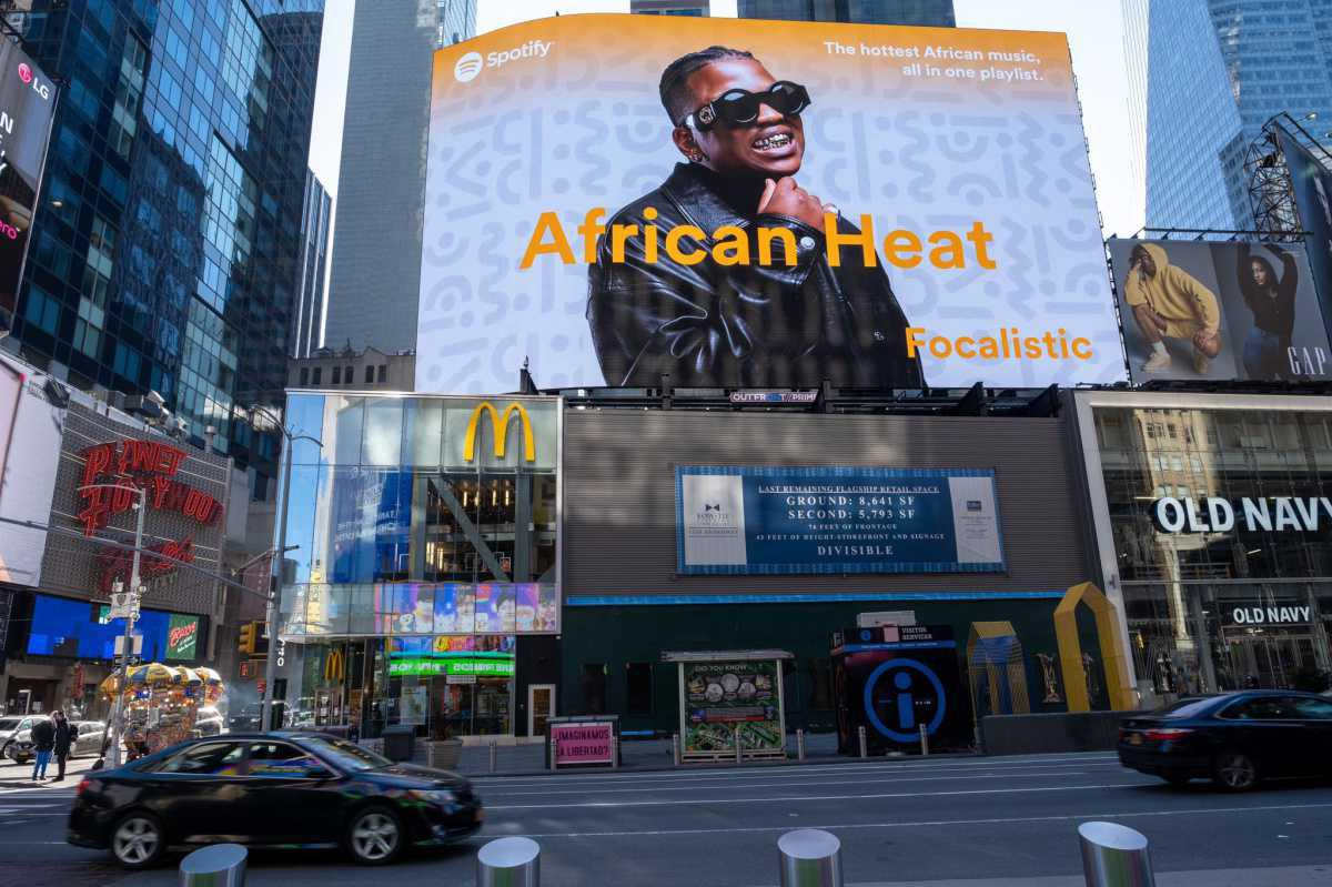 Focalistic Appears On New York Times Square's Billboard
