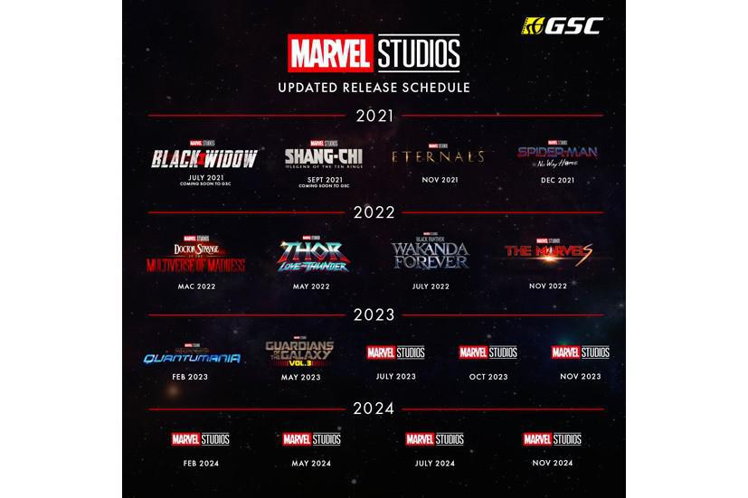 Marvel Studios adds 4 movies to its Release Schedule