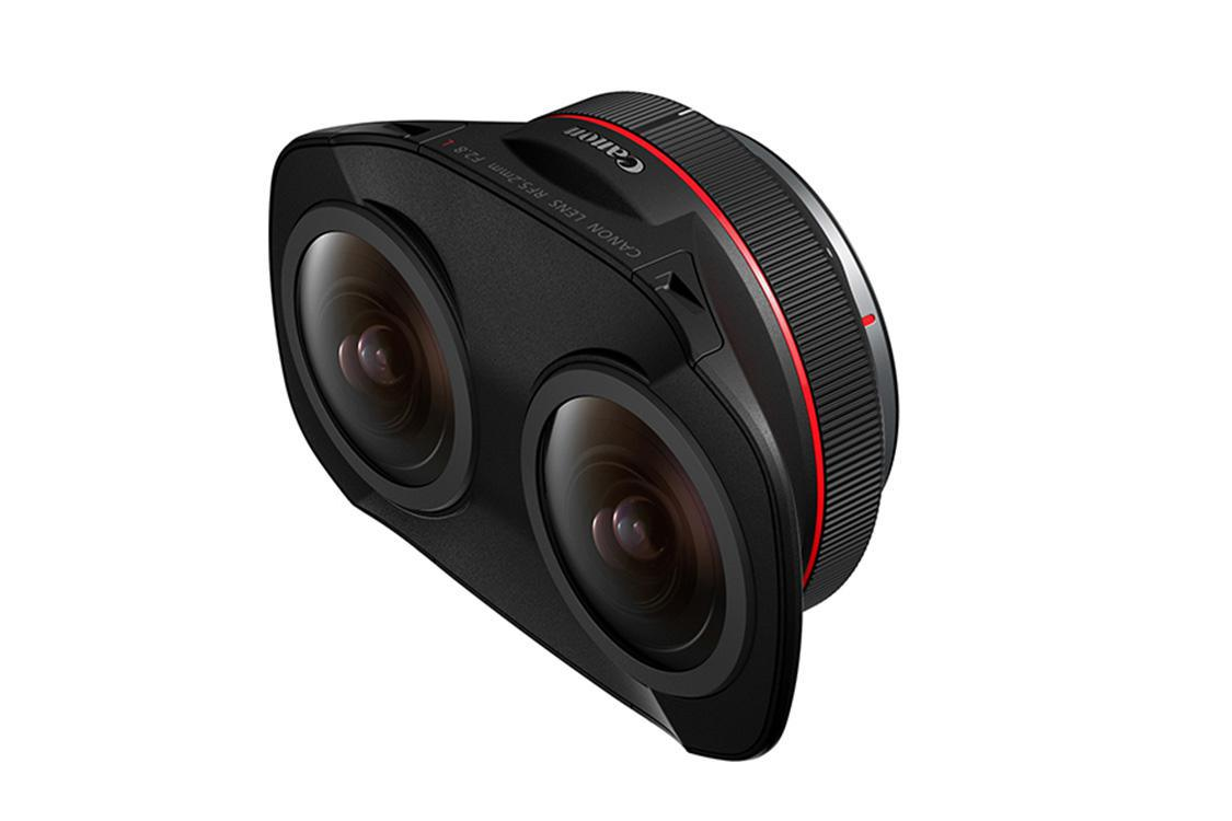 Canon has unveiled its new RF5.2mm F2.8 L Dual Fisheye lens for creating 3D VR images and video content
