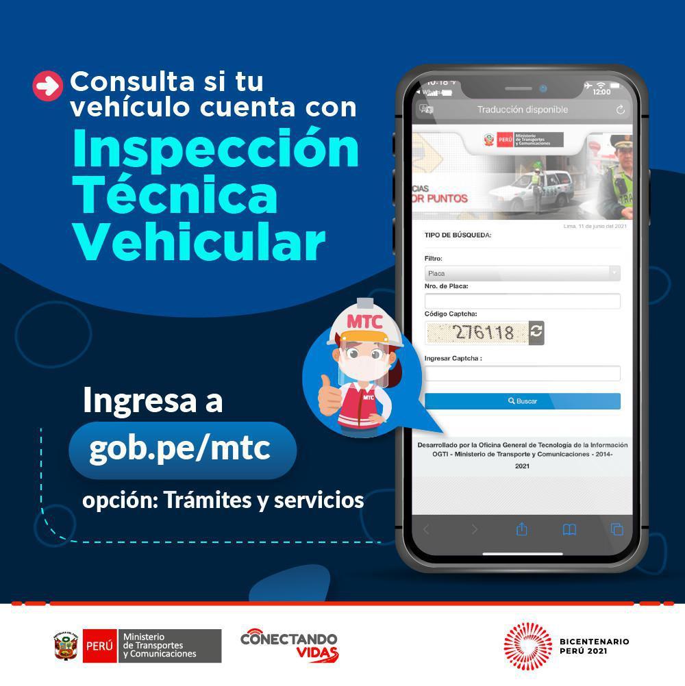Consulta de Revisión Técnica Vehicular (CITV)