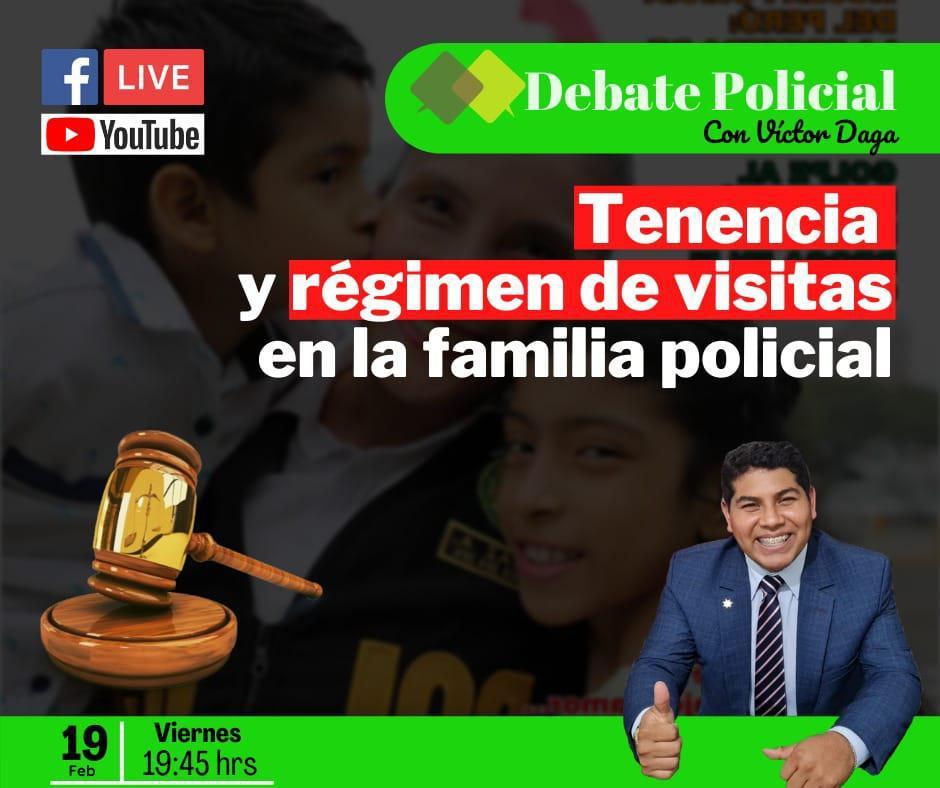 DEBATE POLICIAL : Tenencia y régimen de visitas en la familia policial