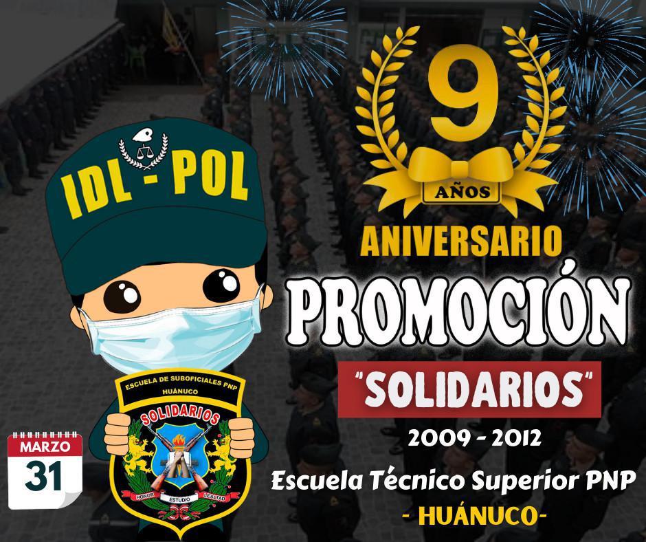 Feliz Aniversario promoción SOLIDARIOS - Huánuco