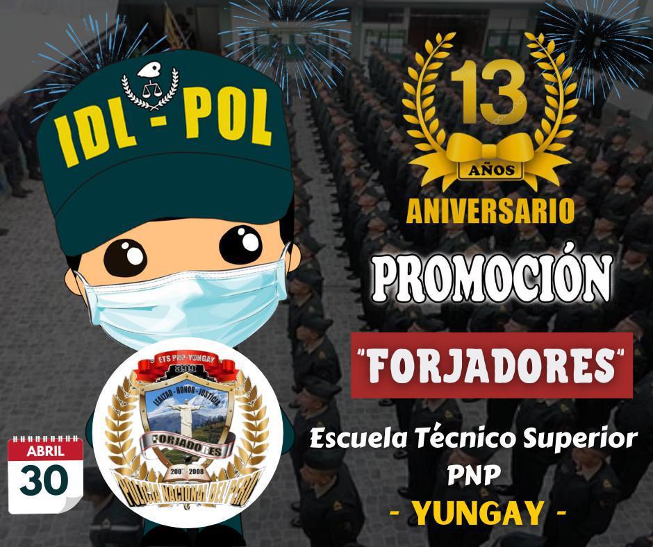 Feliz Aniversario Promoción Forjadores - Yungay