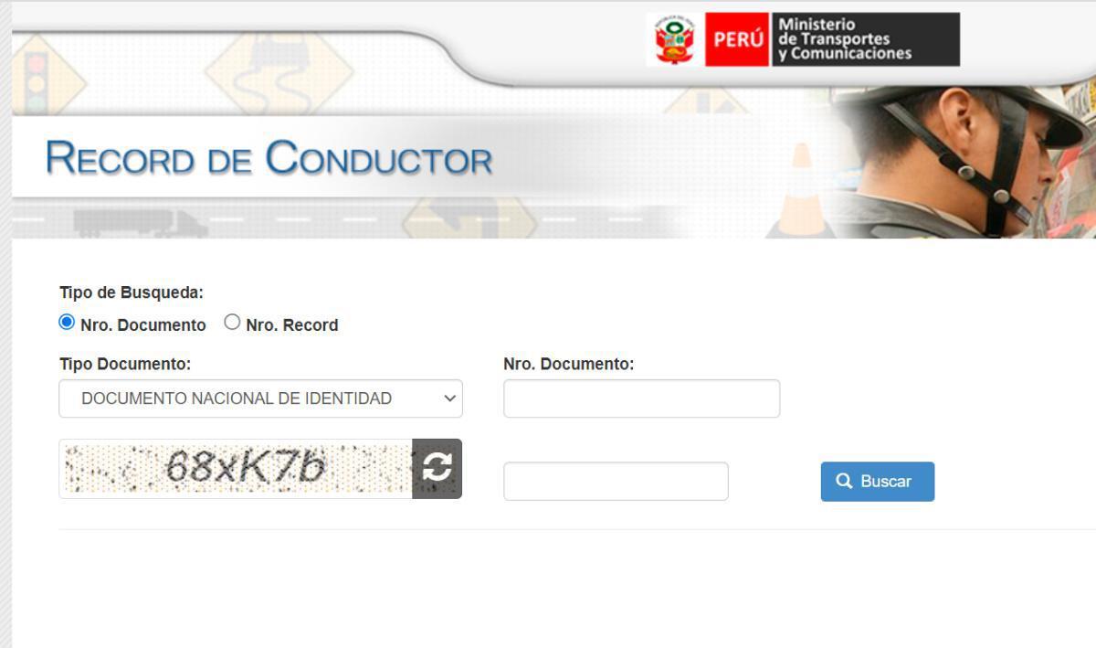 Récord del Conductor MTC