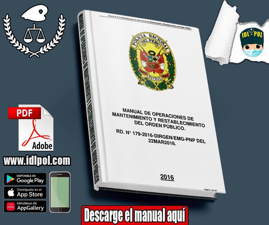 Manual de operaciones de mantenimiento y restablecimiento del orden público