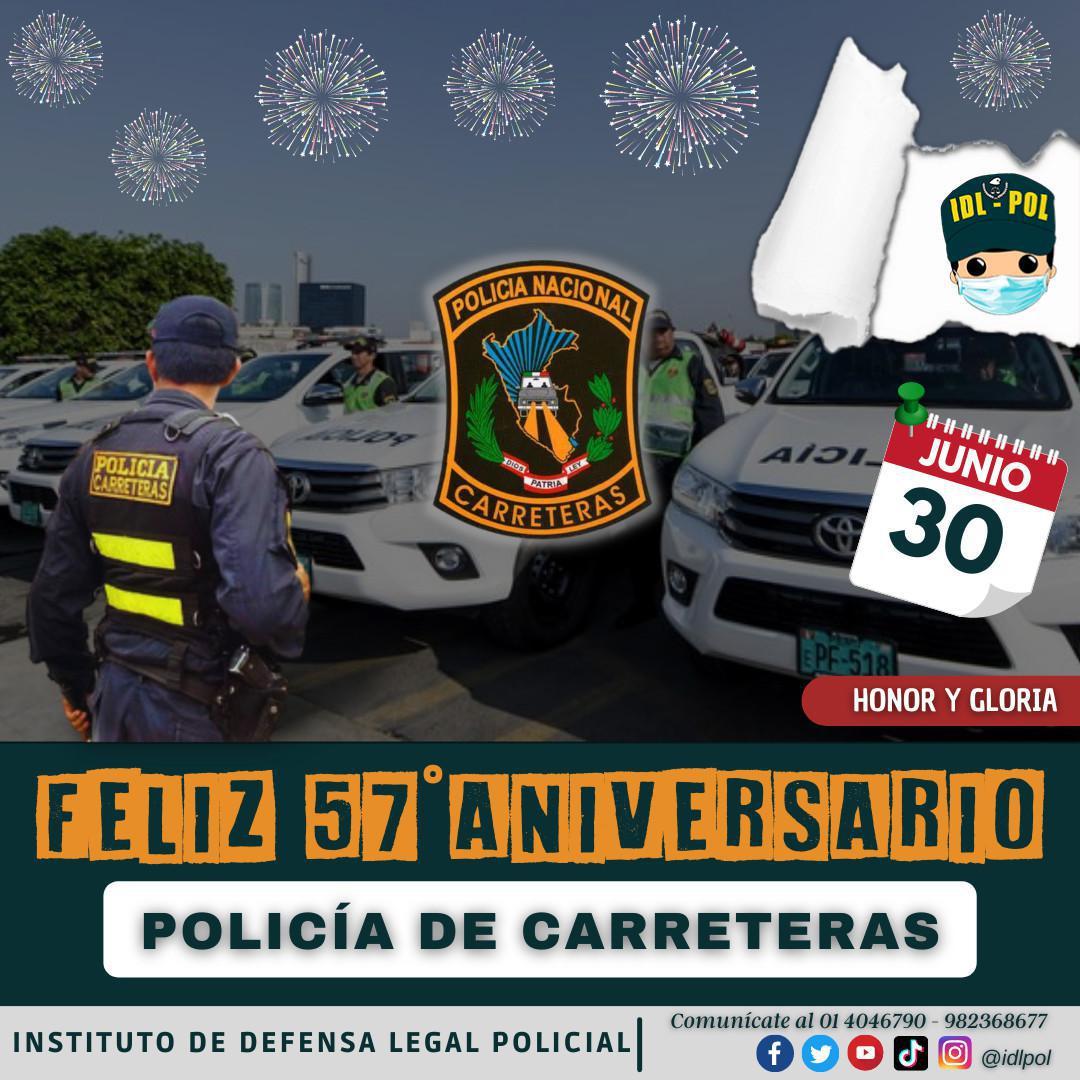 ¡Feliz Aniversario Policía de Carreteras!