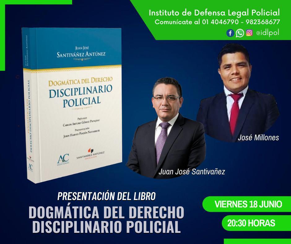 🔴Presentación del libro DOGMÁTICA DEL DERECHO DISCIPLINARIO POLICIAL