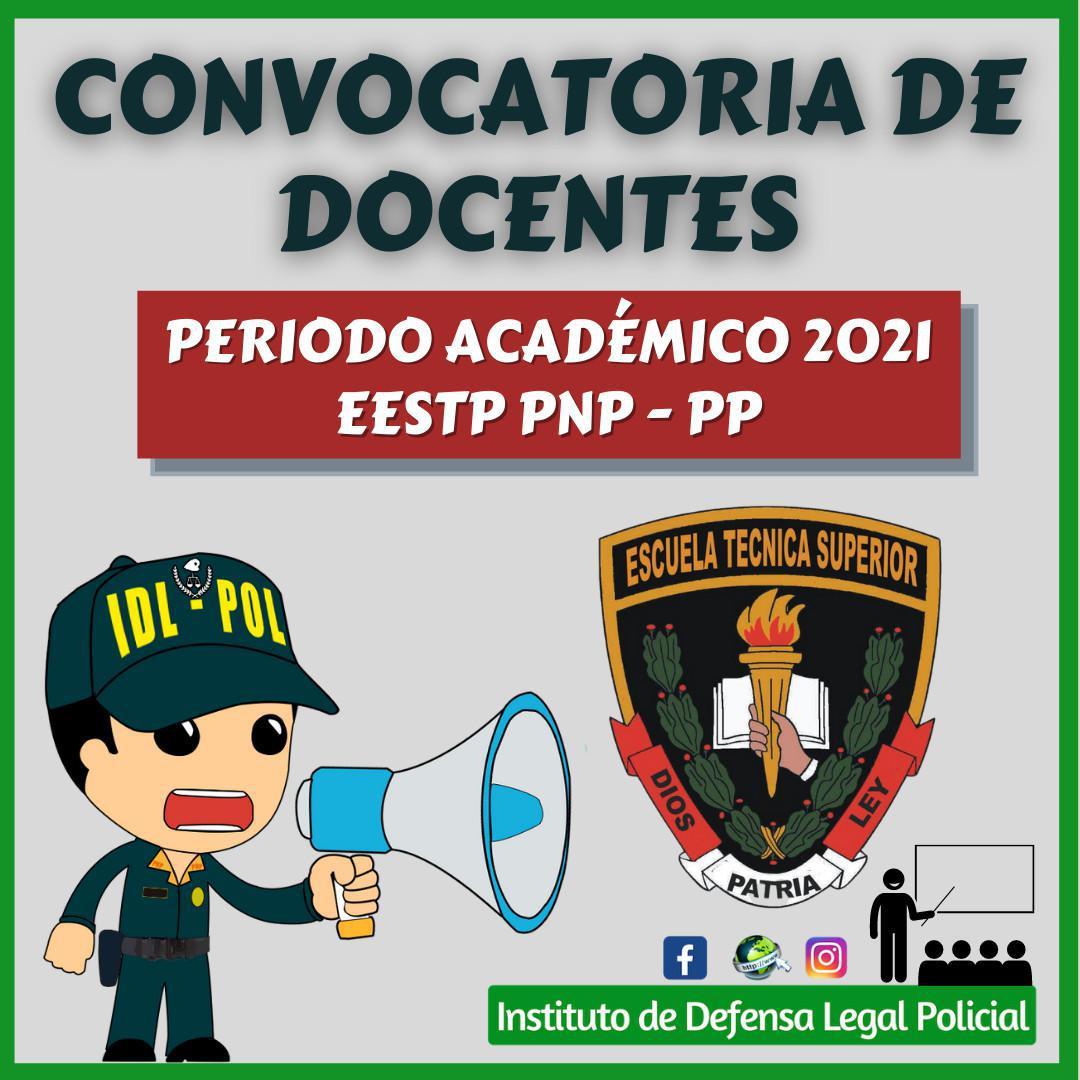 Convocatoria de Docentes para la EESTP PNP Puente Piedra