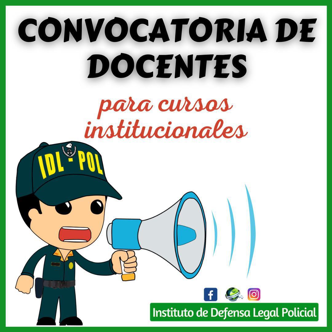 CONVOCATORIA DE DOCENTES para cursos institucionales