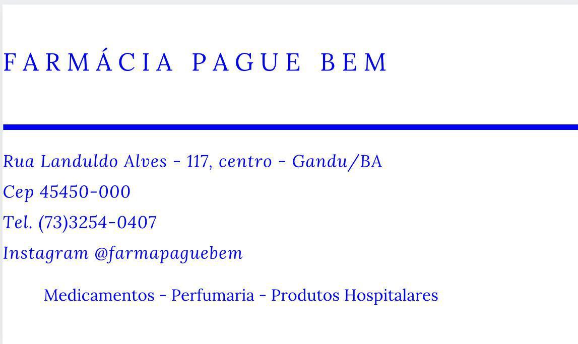 Farmácia Pague Bem
