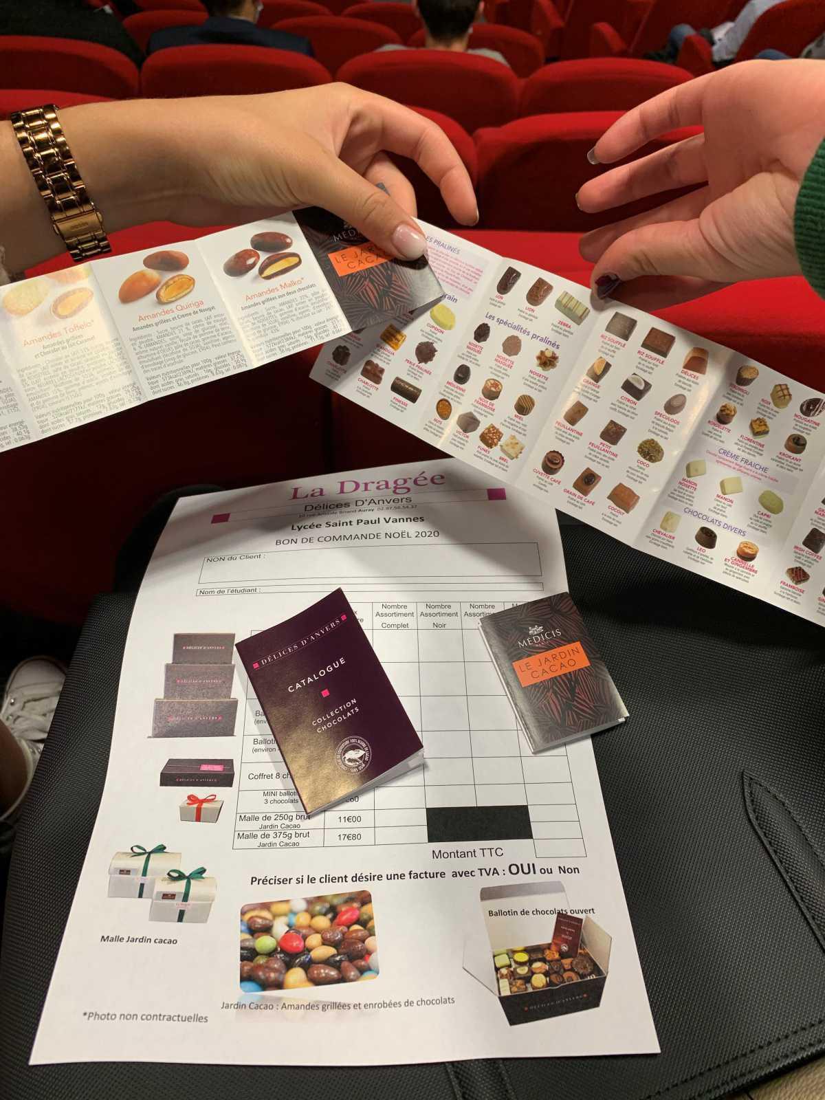 Lancement de l'opération chocolats 2020 pour les BTS 1ère année