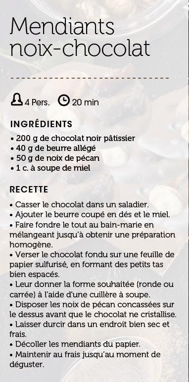 Mendiants noix-chocolat