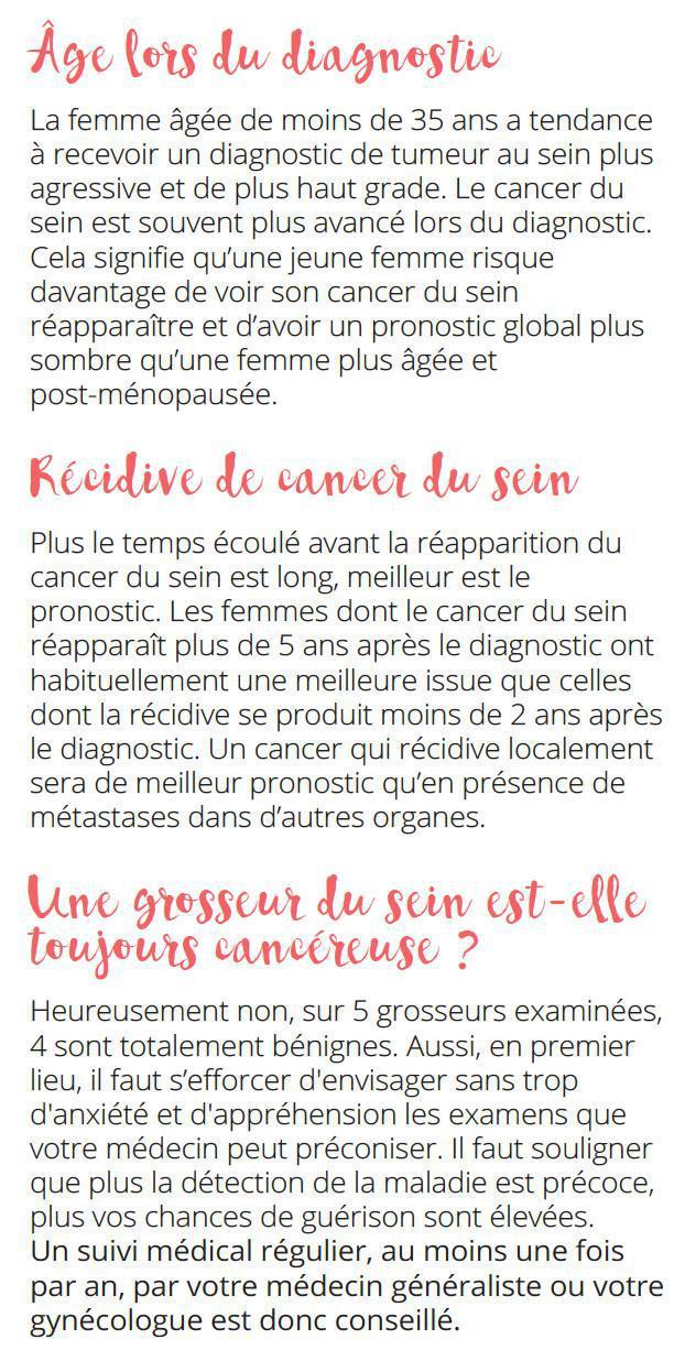 LES FACTEURS PRONOSTIQUES DU CANCER DU SEIN