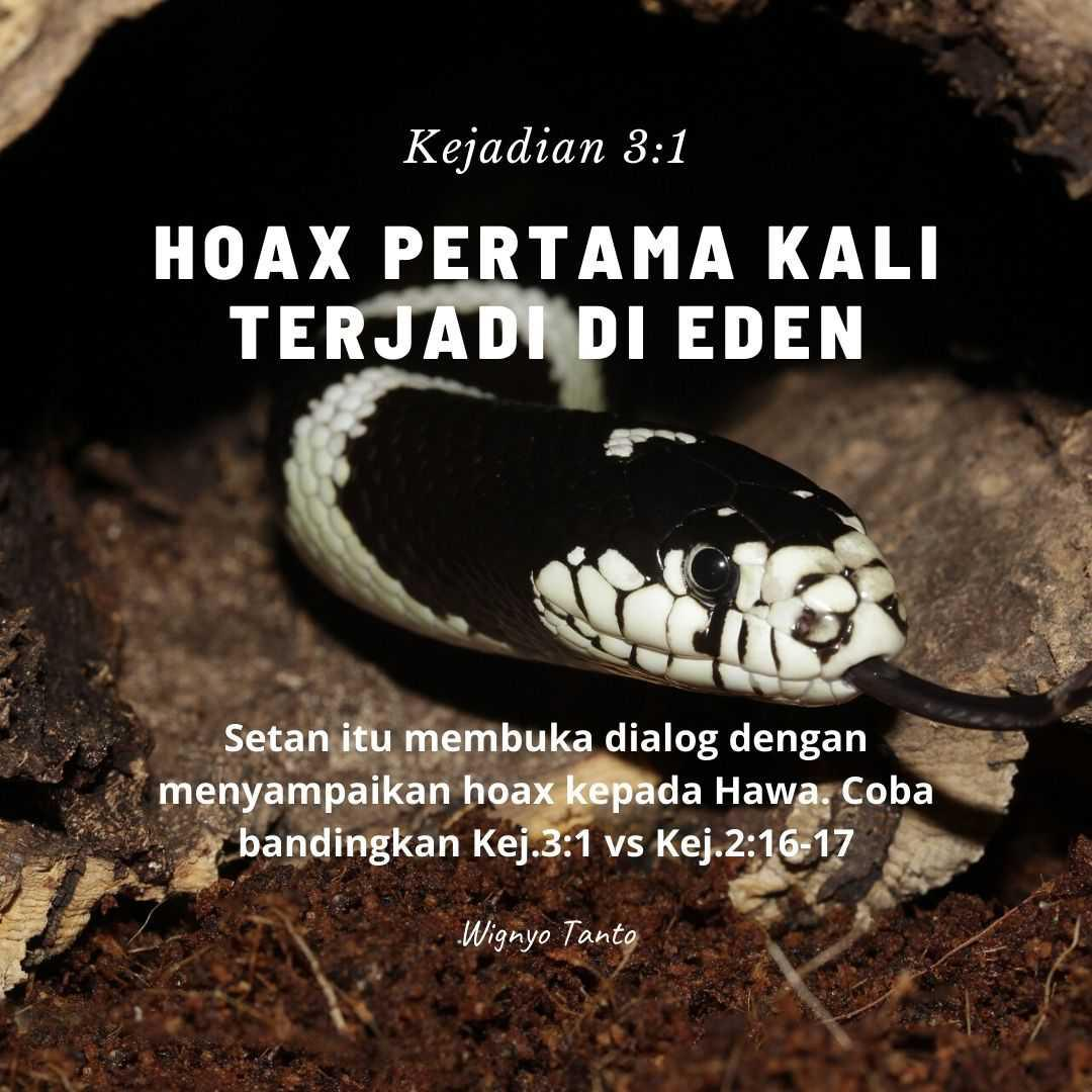 Hoax pertama terjadi di Eden