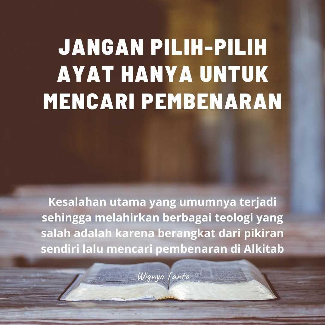 Jangan pilih-pilih ayat