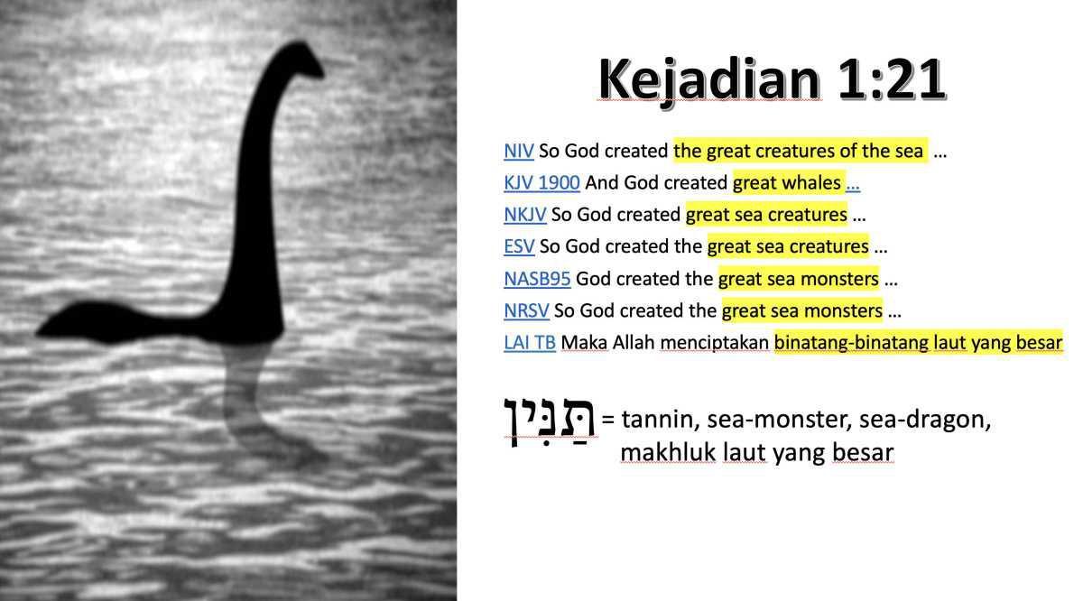 Dinosaurus di Kejadian 1:21