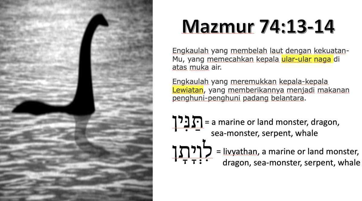 Dinosaurus di Mazmur 74:13-14