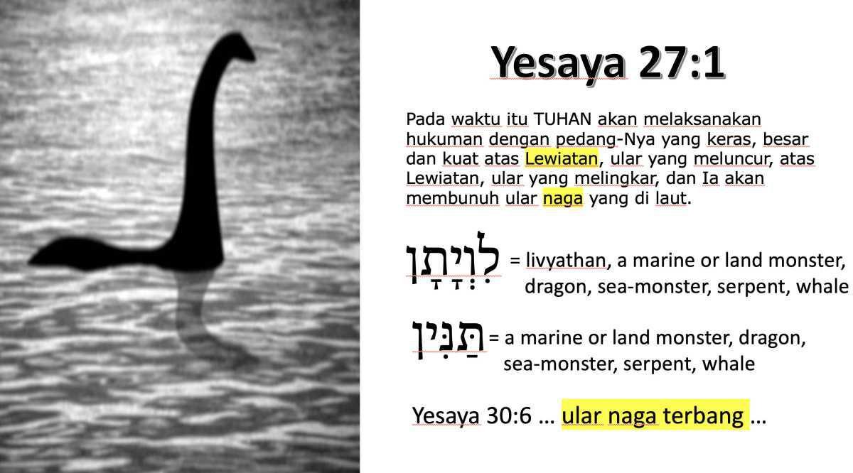 Dinosaurus di Yesaya 27:1