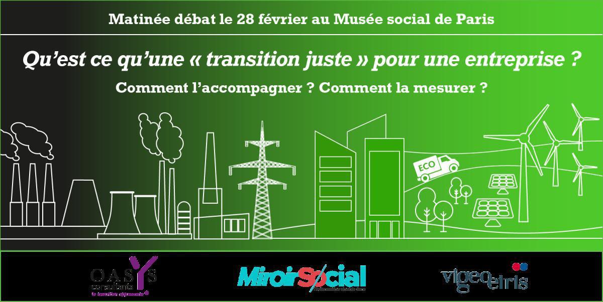 Agenda : débat organisé par Miroir Social, qu'est ce qu'une transition juste ?